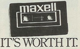 Maxell - It's worth it.
